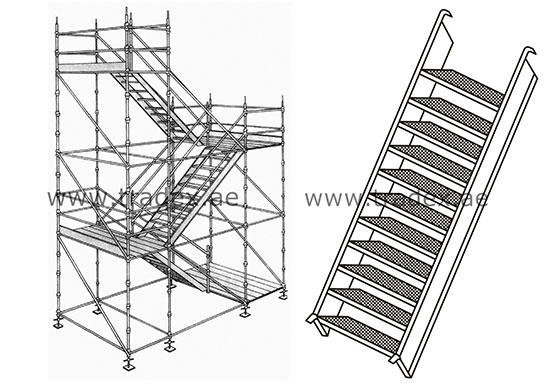 Staircase Towers Can Be Simply Erected Using Scaffolding Components  Together With Specially Designed Staircase Units Which Locate Over The  Horizontal ...